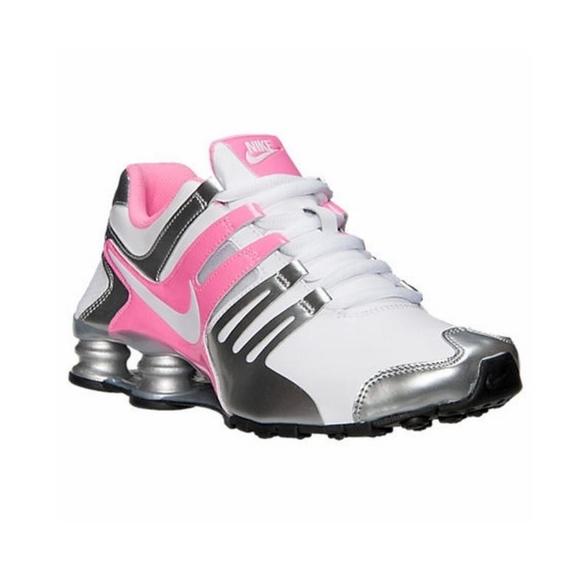 pretty nice b574c 48d15 White/Pink Glow/Metallic Silver Women's Nike Shox.  M_5b80815e819e90cb8cef41f3